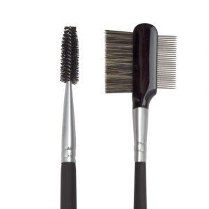 Pensula cu 2 capete pentru gene/sprancene S.I.L.K® Brow/Lash Groom - BC521 FERRULE 1024x1024 300x300