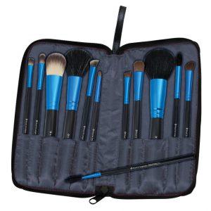 Set 12 pensule machiaj de calatorie MASTERPRO Travel Zip Case - Set de calatorie 12 pensule machiaj MASTERPRO Travel Zip Case 1 300x300