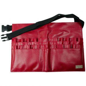 Centura suport pensule de machiaj Red Patent 28 compartimente Royal