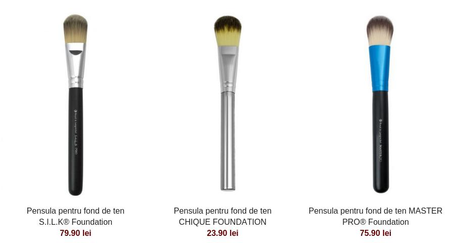 5 pensule de machiaj pe care orice femeie ar trebui sa le aibă - Pensula pentru fond de ten S.I.L.K® Foundation79.90 lei